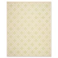 Safavieh Cambridge 8-Foot x 10-Foot Becca Wool Rug in Light Green/Ivory