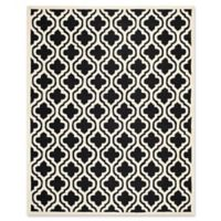 Safavieh Cambridge 8-Foot x 10-Foot Becca Wool Rug in Black/Ivory