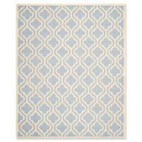 Safavieh Cambridge 9-Foot x 12-Foot Becca Wool Rug in Light Blue/Ivory