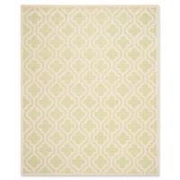 Safavieh Cambridge 9-Foot x 12-Foot Becca Wool Rug in Light Green/Ivory