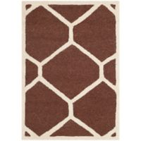 Safavieh Cambridge 2-Foot 6-Inch x 4-Foot Jayme Wool Rug in Dark Brown/Ivory