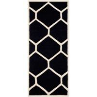 Safavieh Cambridge 2-Foot 6-Inch x 6-Foot Jayme Wool Rug in Black/Ivory