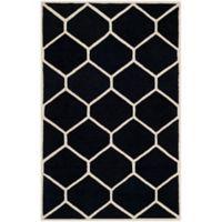 Safavieh Cambridge 6-Foot x 9-Foot Jayme Wool Rug in Black/Ivory
