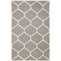 Safavieh Cambridge 6-Foot x 9-Foot Jayme Wool Rug in Silver/Ivory