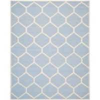 Safavieh Cambridge 8-Foot x 10-Foot Jayme Wool Rug in Light Blue/Ivory