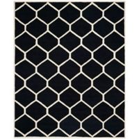 Safavieh Cambridge 8-Foot x 10-Foot Jayme Wool Rug in Black/Ivory