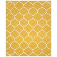 Safavieh Cambridge 8-Foot x 10-Foot Jayme Wool Rug in Gold/Ivory