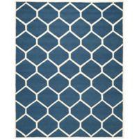 Safavieh Cambridge 9-Foot x 12-Foot Jayme Wool Rug in Navy Blue/Ivory