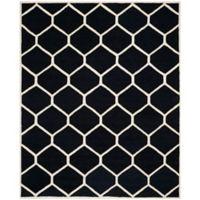 Safavieh Cambridge 9-Foot x 12-Foot Jayme Wool Rug in Black/Ivory