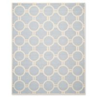 Safavieh Cambridge 8-Foot x 10-Foot Morgan Wool Rug in Light Blue/Ivory