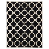 Safavieh Cambridge 8-Foot x 10-Foot Morgan Wool Rug in Black/Ivory