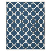 Safavieh Cambridge 9-Foot x 12-Foot Morgan Wool Rug in Navy Blue/Ivory
