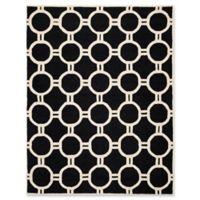 Safavieh Cambridge 9-Foot x 12-Foot Morgan Wool Rug in Black/Ivory