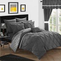 Chic Home Fortville Reversible Queen Comforter Set in Grey