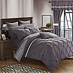Chic Home Fortville Reversible King Comforter Set in Plum