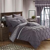 Chic Home Fortville Reversible Queen Comforter Set in Plum