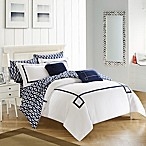 Chic Home Dawson 9-Piece King Reversible Comforter Set in Navy