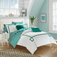 Chic Home Dawson 9-Piece King Reversible Comforter Set in Aqua