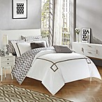 Chic Home Dawson 9-Piece Queen Reversible Comforter Set in Grey