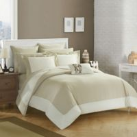 Chic Home Bathilda 10-Piece Queen Reversible Comforter Set in Beige