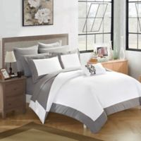 Chic Home Bathilda 10-Piece Queen Reversible Comforter Set in Grey