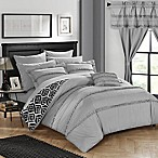 Chic Home Drew 20-Piece King Reversible Comforter Set in Grey