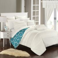 Chic Home Drew 20-Piece Queen Reversible Comforter Set in White