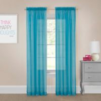 Pairs to Go™ Victoria Voile 63-Inch Rod Pocket Window Curtain Panel Pair in Turquoise