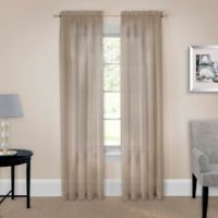 Pairs to Go™ Victoria Voile 63-Inch Rod Pocket Window Curtain Panel Pair in Taupe