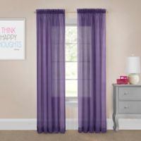 Pairs to Go™ Victoria Voile 63-Inch Rod Pocket Window Curtain Panel Pair in Purple