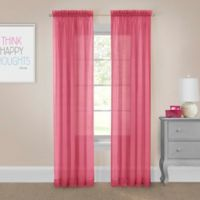 Pairs to Go™ Victoria Voile 63-Inch Rod Pocket Window Curtain Panel Pair in Pink