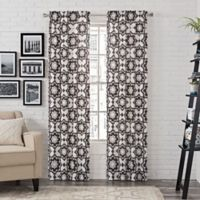 Pairs to Go™ Udall 84-Inch Rod Pocket Window Curtain Panel Pair in Black