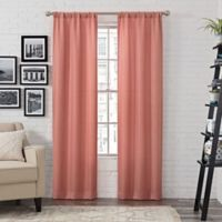 Pairs to Go™ Ibiza 63-Inch Rod Pocket Window Curtain Panel Pair in Coral