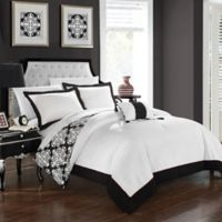 Chic Home Mallow Reversible King Duvet Cover Set in Black