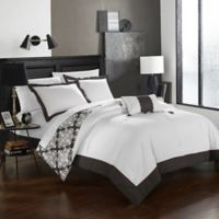 Chic Home Mallow Reversible Twin Duvet Cover Set in Grey
