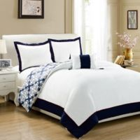 Chic Home Mallow Reversible King Duvet Cover Set in Navy