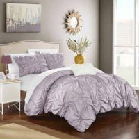 Chic Home Zach Queen Duvet Cover Set in Lavender