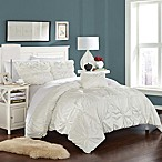 Chic Home Zach Queen Duvet Cover Set in White