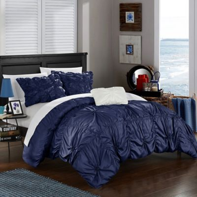 Chic Home Zach King Duvet Cover Set In Navy
