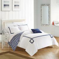 Chic Home Berwin Reversible Queen Duvet Cover Set in Navy