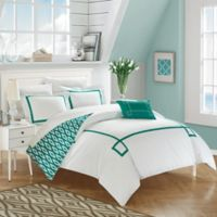 Chic Home Berwin Reversible King Duvet Cover Set in Aqua