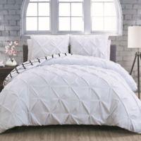 Avondale Manor Madrid Queen Duvet Cover Set in White