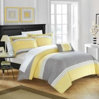 Chic Home Samara Queen Duvet Cover Set in Yellow