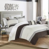 Chic Home Samara King Duvet Cover Set in Brown