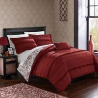 Chic Home Clover Reversible Queen Duvet Cover Set in Brick
