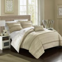 Chic Home Clover Reversible King Duvet Cover Set in Beige