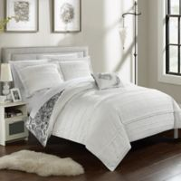 Chic Home Clover Reversible Queen Duvet Cover Set in White