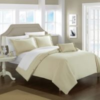 Chic Home Odin Combed Cotton Twin Duvet Cover Set in Beige