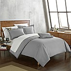 Chic Home Odin Combed Cotton Queen Duvet Cover Set in Grey