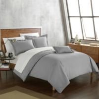 Chic Home Odin Combed Cotton Twin Duvet Cover Set in Grey